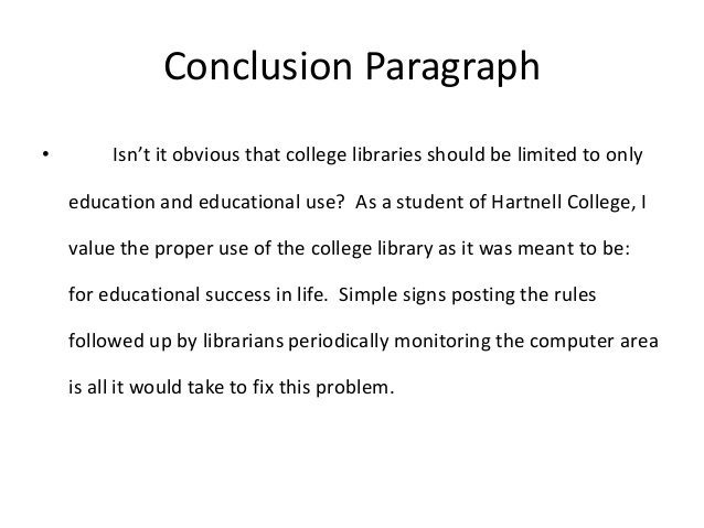 How to conclude why college essay