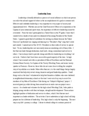 Community service learning essay