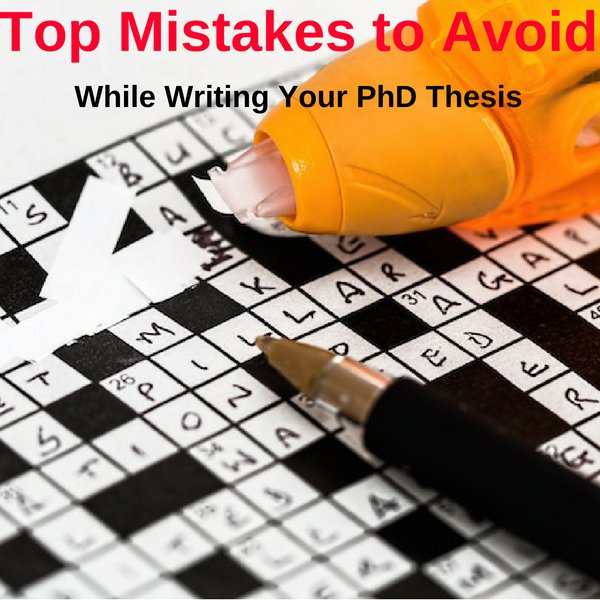Writing up thesis phd